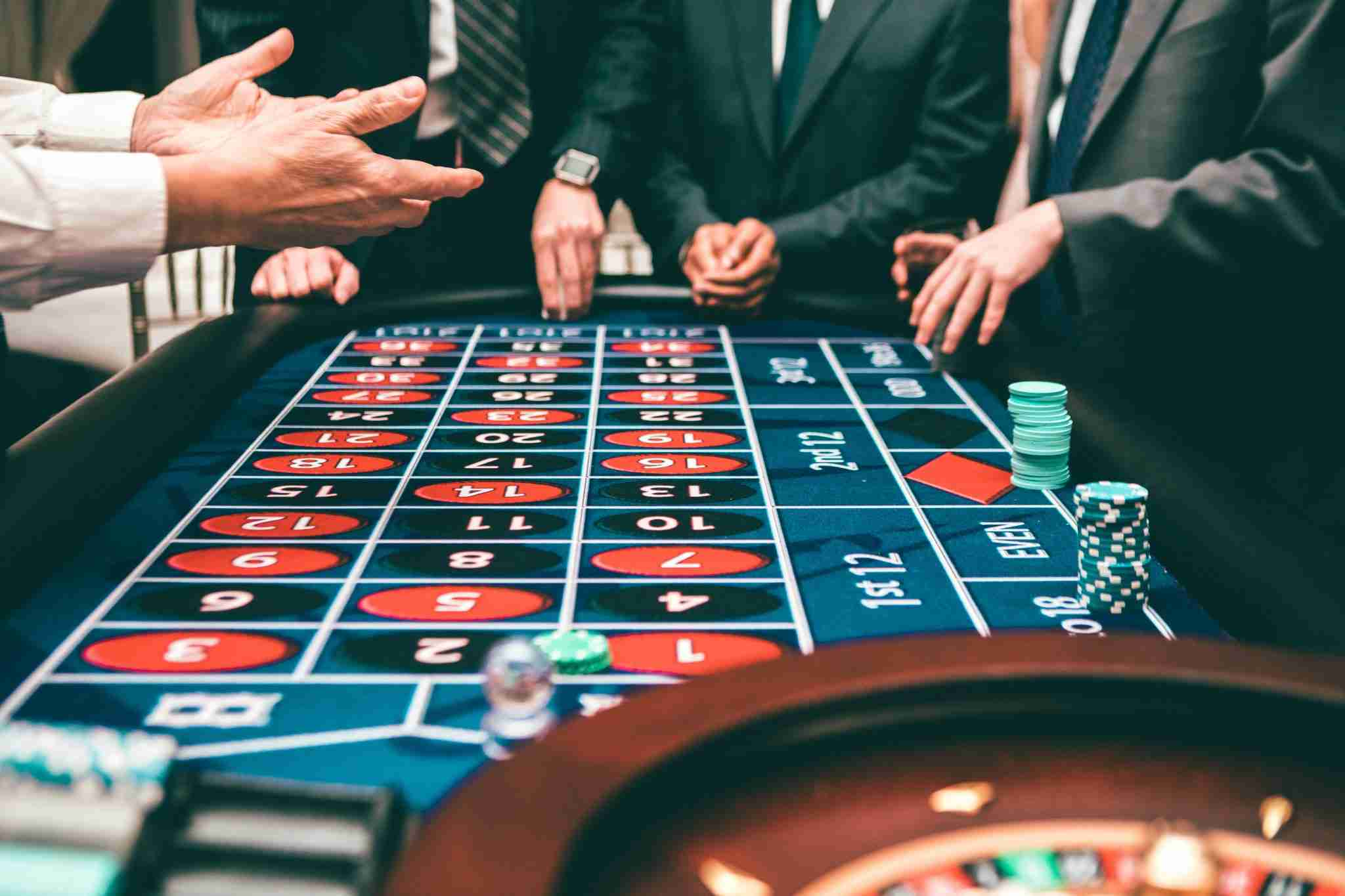 People Playing Roulette In A Casino