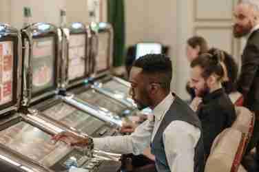 Man Playing Slots