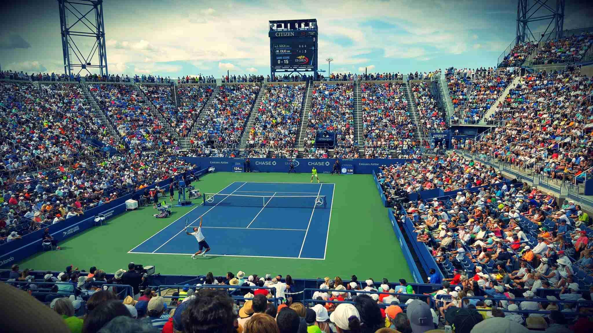 US Open Tennis Match